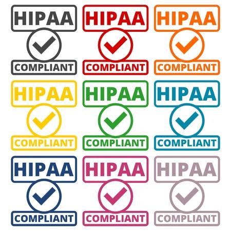 accountability: HIPAA badge - Health Insurance Portability and Accountability Act