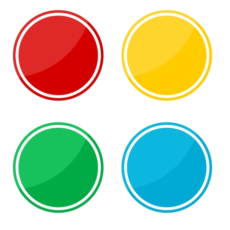 circle shape: 4 different sticker, circle shape