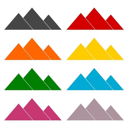 Chichen Itza Icons set