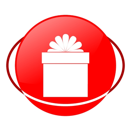 red gift box: Red icon, gift box vector ilustration Illustration