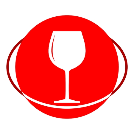 cabernet: Red icon, Wine glass vector ilustration