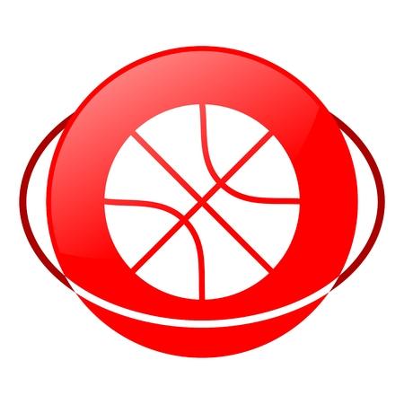 ilustration: Red icon, basketball vector ilustration Illustration