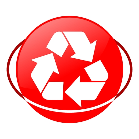 local supply: Red icon, recycling sign vector ilustration Illustration