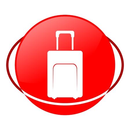 ilustration: Red icon, bag vector ilustration