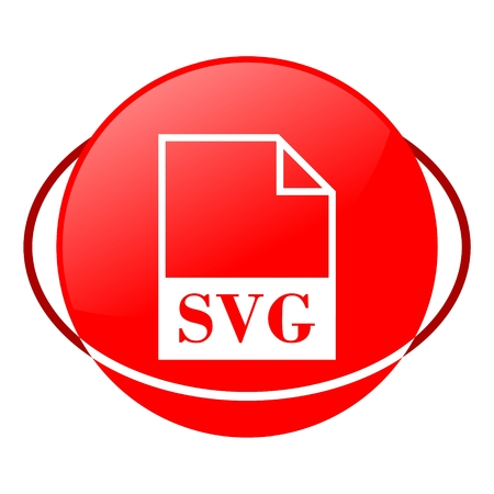 Red icon, svg file vector ilustration