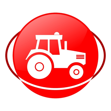 ilustration: Red icon, tractor vector ilustration Illustration