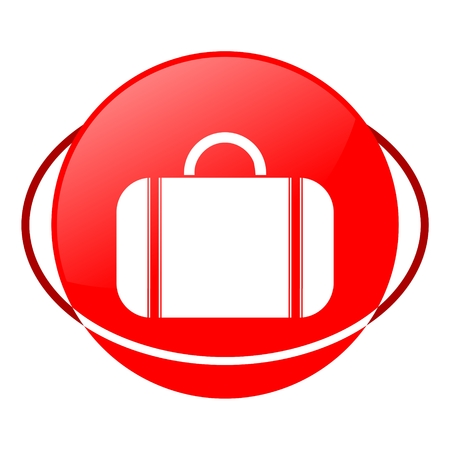 valise: Red icon, valise vector ilustration