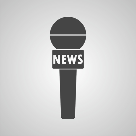 news reporter: News reporter microphone icon
