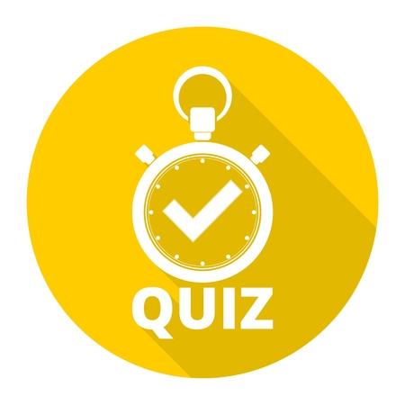 Quiz icon Vector Illustration