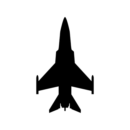 avion de chasse: Fighter icon Illustration
