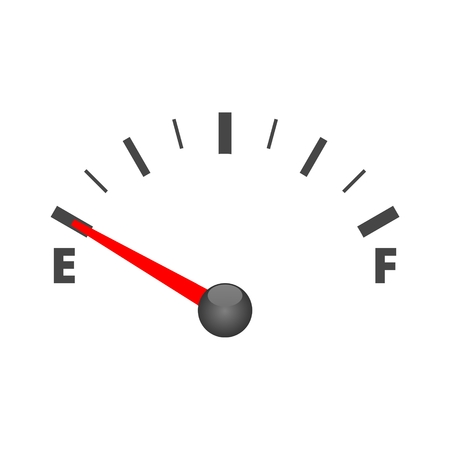 Vector fuel gauge icon