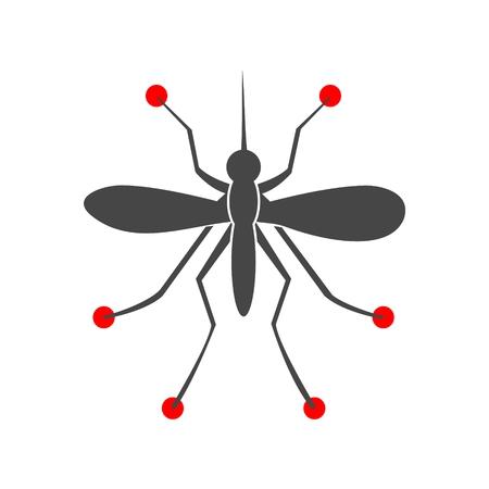 bloodsucking: Mosquito simple icon Illustration