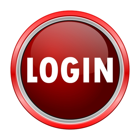 red button: Login round metallic red button
