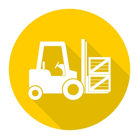 Forklift icon with long shadow
