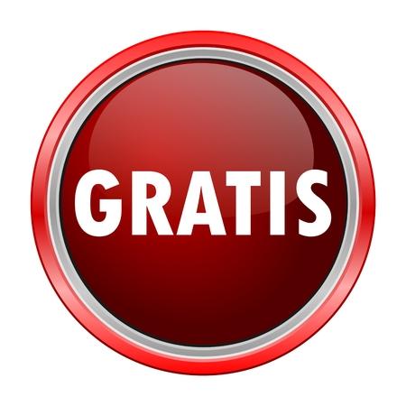 gratuity: Gratis round metallic red button