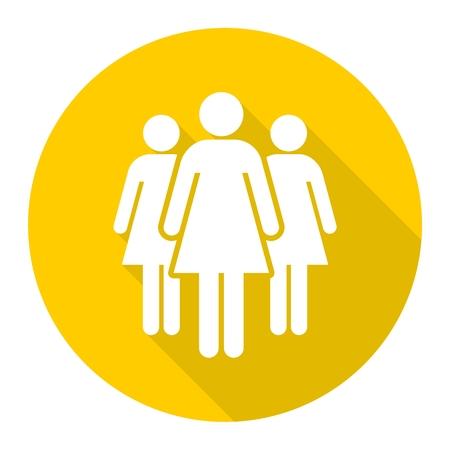 Groep van drie vrouwen icoon