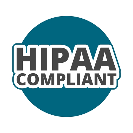 data protection act: HIPAA compliant icon Illustration