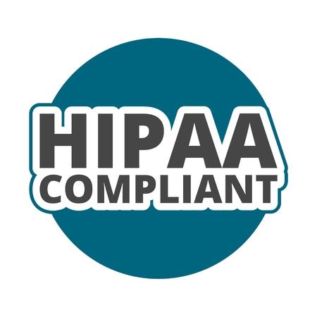 HIPAA compliant icon Illustration