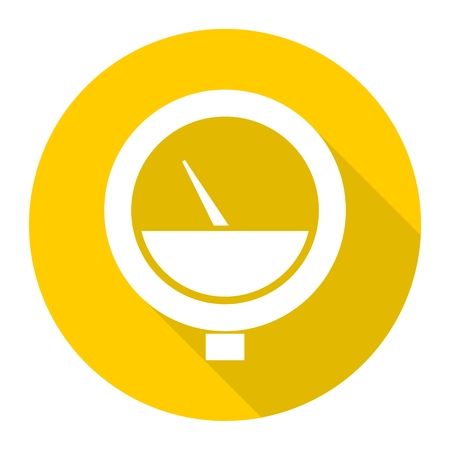 manometer: Manometer icon with long shadow