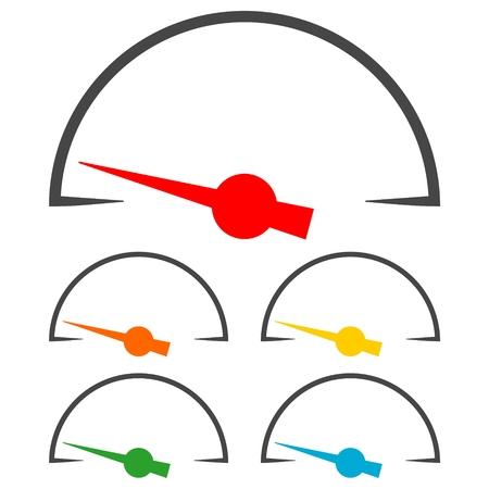 pressure gauge: Pressure gauge - Manometer icons set