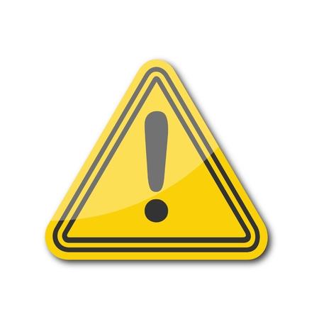 symbol vigilance: Attention sign. Vector illustration. Illustration