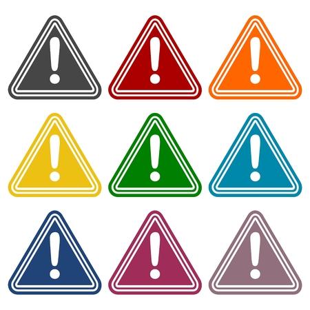 hazard: Hazard warning attention sign set