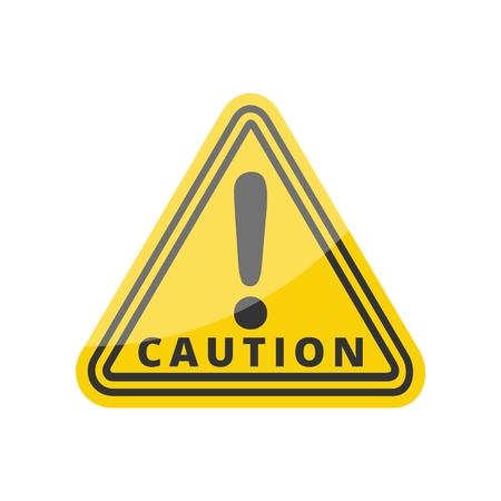 hazard: Hazard warning attention sign Illustration