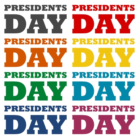 labor strong: Presidents day icons set