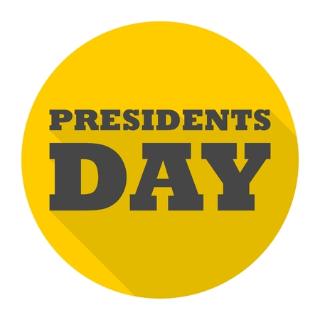 president's day: Presidents day icon with long shadow
