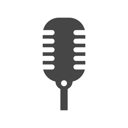 icon vector: Microphone Vector icon Illustration