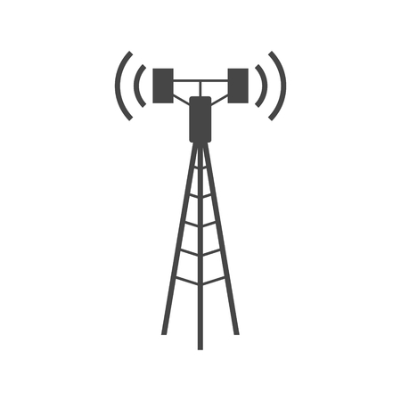 Communication antenna tower icon
