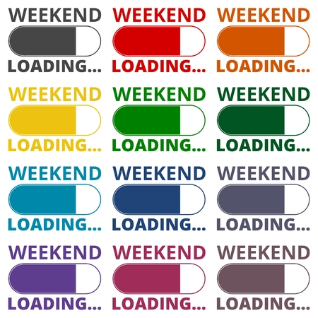 weekend: Weekend - loading Illustration