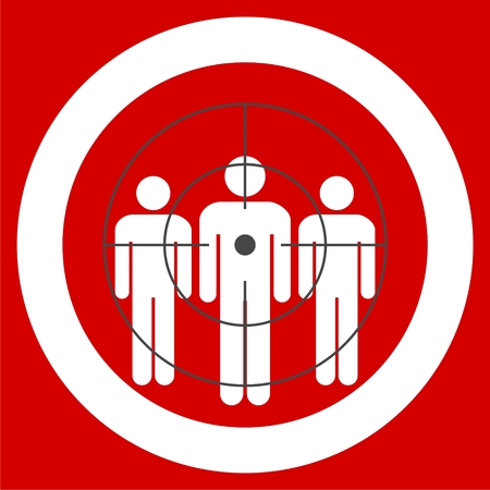 target audience icon. target audience sign Ilustracja