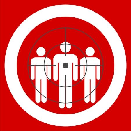 Zielgruppe Symbol. Zielgruppe Zeichen