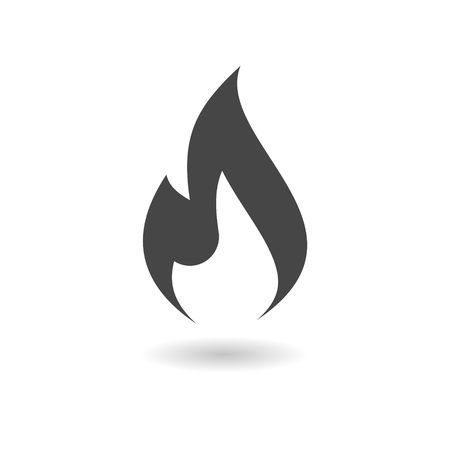 gas flame: Gas Flame Icon Illustration