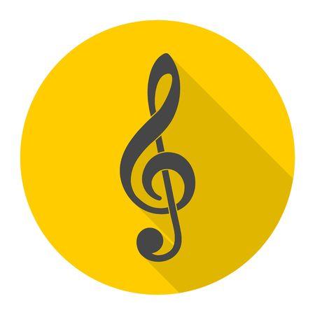 Illustration of a black clef Illustration