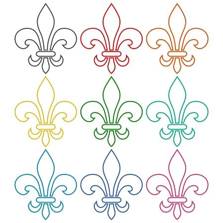 symbol fleur de lis: Fleur de Lis. Symbol isolated on white background