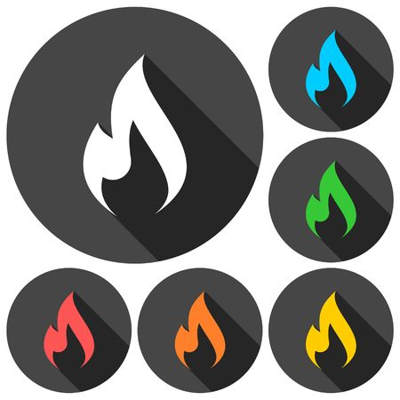 Fire icon, Flame icon Illustration