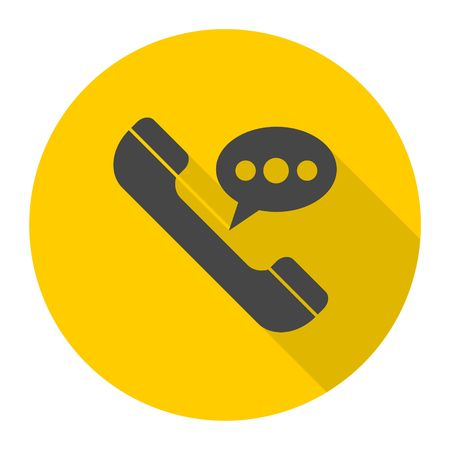 Voice message icon with long shadow