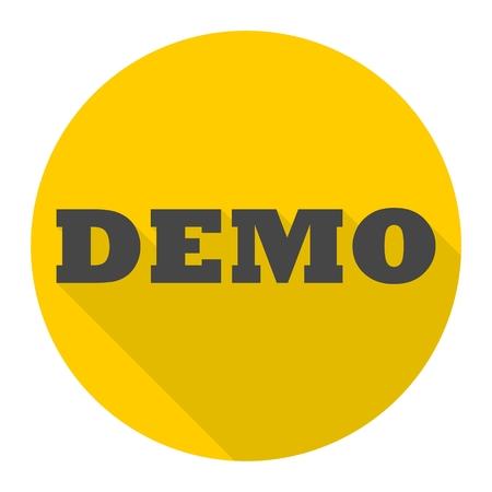 Demo sign icon