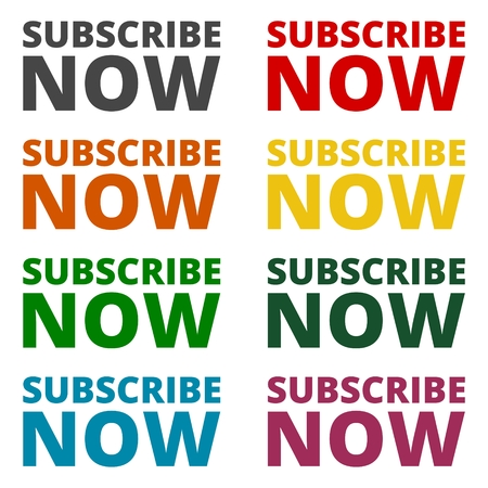 subscribing: Subscribe now icons set