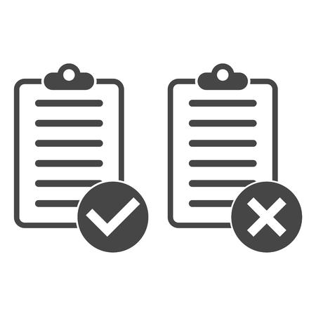Checkliste Icons Standard-Bild - 60107587