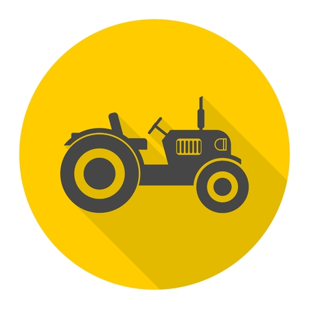 old tractor: Old Tractor icon Illustration
