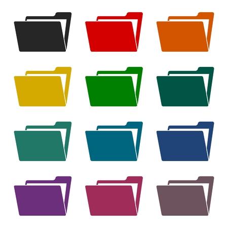 folder icons: File, folder icons set
