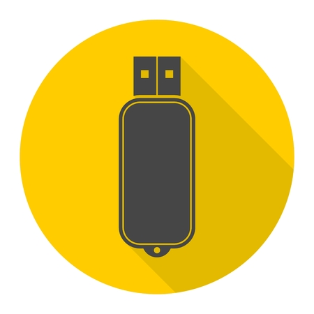 flash memory: Usb flash memory icon