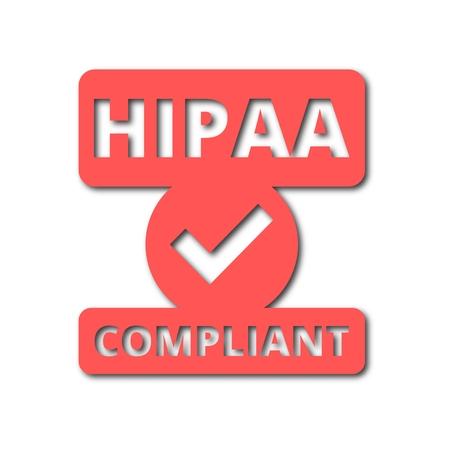 accountability: HIPAA badge - Health Insurance Portability and Accountability Act icon