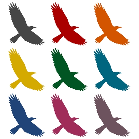 swooping: Crow icons set