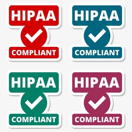 portability: HIPAA badge - Health Insurance Portability and Accountability Act stickers set