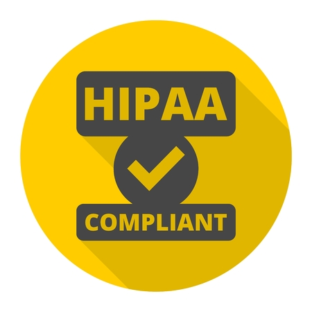 HIPAA badge icon 向量圖像