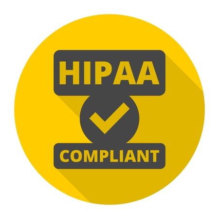 HIPAA badge icon Vectores